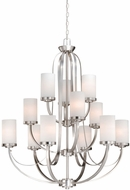 Vaxcel OX-CHU012BN Oxford Contemporary Brushed Nickel Finish 43.25  Tall Hanging Chandelier