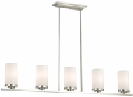 Vaxcel P0013 Oxford Contemporary Brushed Nickel Finish 7.75  Tall Kitchen Island Lighting