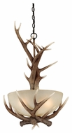 Vaxcel P0024 Yoho Rustic Black Walnut Finish 30  Tall Drop Lighting Fixture
