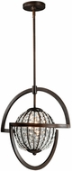 Vaxcel P0036 Mondial Contemporary Venetian Bronze Finish 20  Tall Hanging Light Fixture