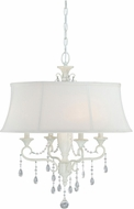 Vaxcel P0048 Bristol Crystal Antique Ivory Finish 23.25  Wide Chandelier Light