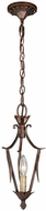 Vaxcel P0071 Coricelli Royal Bronze Finish 15  Tall Mini Hanging Lamp