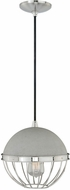 Vaxcel P0076 Vintage Polished Nickel Finish 10.25  Wide Mini Hanging Pendant Lighting