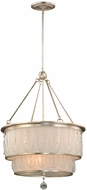 Vaxcel P0110 Traditional Silver Leaf Finish 41  Tall Ceiling Light Pendant