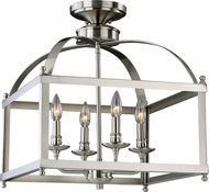 Vaxcel P0199 Juliet Satin Nickel  Overhead Light Fixture