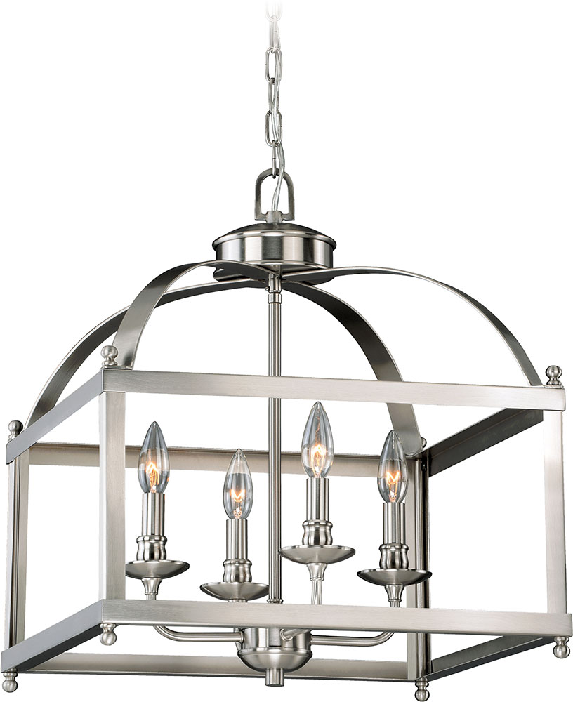 Foyer Lighting Fixtures : Vaxcel p juliet satin nickel foyer lighting fixture