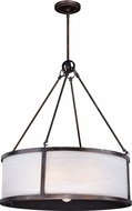 Vaxcel P0227 Lumos Sterling Bronze Drum Drop Lighting Fixture