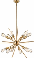 Vaxcel P0228 Estelle Contemporary Natural Brass Chandelier Light