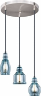 Vaxcel P0250 Mille Modern Oil Rubbed Bronze with Satin Nickel Multi Ceiling Pendant Light
