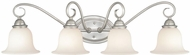 Vaxcel PA-VLD004BN Picasso Brushed Nickel 4-Light Bathroom Wall Sconce