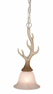 Vaxcel PD33057NS Lodge Rustic Noachian Stone Finish 16.5  Tall Mini Hanging Pendant Lighting
