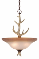 Vaxcel PD33088NS Lodge Rustic Noachian Stone Finish 25  Tall Hanging Pendant Light