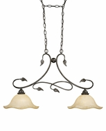 Vaxcel PD38834OL Vine Country Oil Shale Finish 34  Wide Kitchen Island Lighting