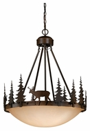 Vaxcel PD55424BBZ Bryce Country Burnished Bronze Finish 29.5  Tall Pendant Light Fixture