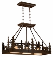 Vaxcel PD55436BBZ Bryce Rustic Burnished Bronze Finish 14.5  Wide Island Light Fixture