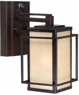 Vaxcel RB-OWD050EB Robie Craftsman Espresso Bronze Finish 8.375  Wide Outdoor Wall Sconce Lighting