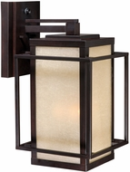 Vaxcel RB-OWU090EB Robie Craftsman Espresso Bronze Finish 12.25  Wide Outdoor Wall Light Sconce