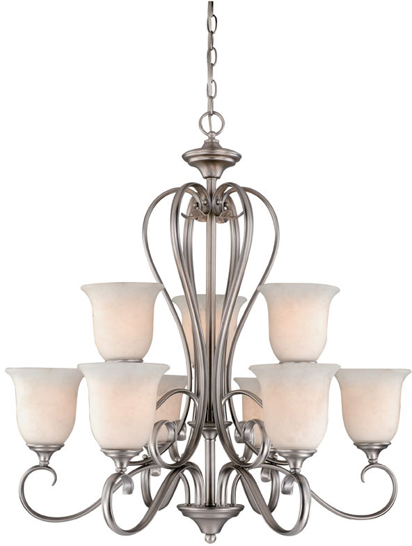 Vaxcel RV-CHU009AP Riviera Traditional Antique Pewter Finish 30.125  Wide Chandelier Light. Loading zoom - Vaxcel RV-CHU009AP Riviera Traditional Antique Pewter Finish