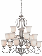 Vaxcel RV-CHU015AP Riviera Traditional Antique Pewter Finish 38.5  Wide Hanging Chandelier