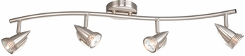 Vaxcel SP34114SN Spotlight Contemporary Satin Nickel Finish 31.5  Wide Halogen Home Track Lighting