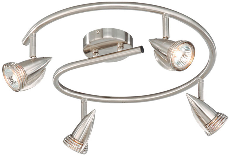 Vaxcel sp34118sn spotlight modern satin nickel finish 6 tall vaxcel sp34118sn spotlight modern satin nickel finish 6nbsp tall halogen track lighting kits loading zoom mozeypictures Image collections