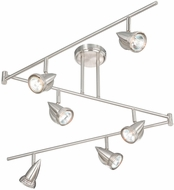 Vaxcel SP34166SN Spotlight Modern Satin Nickel Finish 12  Tall Halogen Track Lighting