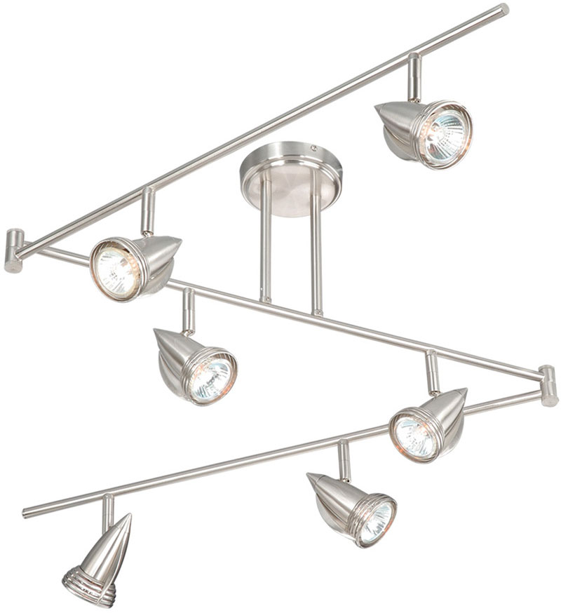 vaxcel sp34166sn spotlight modern satin nickel finish 12