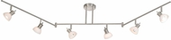 Vaxcel SP53566SN Spotlight Contemporary Satin Nickel Finish 5.5  Wide Halogen Track Lighting Fixture