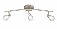 Vaxcel SP56501SN Tivoli Contemporary Satin Nickel Finish 8  Tall Halogen Monorail Lighting