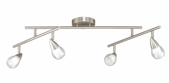 Vaxcel SP56503SN Tivoli Contemporary Satin Nickel Finish 9.25  Tall Halogen Monorail Lighting