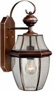 Vaxcel SR53127BBZ Calvin Traditional Burnished Bronze Finish 18.5 Tall Outdoor Smart Lighting Wall Sconce Light