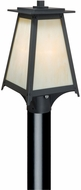 Vaxcel T0022 Prairieview Oil Rubbed Bronze Finish 14.75 Tall Exterior Pole Lighting Fixture