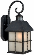 Vaxcel T0026 Savannah Traditional Gold Stone Finish 17.5 Tall Exterior Wall Light Sconce