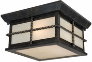 Vaxcel T0029 Savannah Traditional Gold Stone Finish 10 Wide Outdoor Ceiling Light Fixture