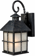Vaxcel T0031 Savannah Traditional Gold Stone Finish 8 Wide Outdoor Wall Sconce