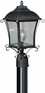Vaxcel T0032 Sonnet Traditional Gold Stone Finish 17.5 Tall Exterior Post Lamp