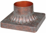 Vaxcel T0038 Post Mount Royal Bronze Finish 6.13  Tall Exterior Pier Mount