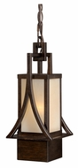Vaxcel T0042 Osaka Craftsman Venetian Bronze Finish 14.875  Tall Exterior Mini Ceiling Light Pendant