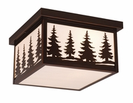Vaxcel T0052 Yosemite Burnished Bronze Finish 11.5  Wide Outdoor Overhead Light Fixture