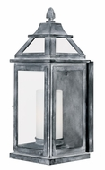 Vaxcel T0059 Lockport Traditional Weathered Black Finish 8.875 Wide Outdoor Wall Sconce Lighting