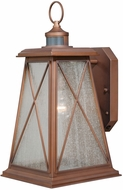 Vaxcel T0061 Mackinac Traditional Antique Red Copper Finish 10.75 Wide Outdoor Smart Lighting Lamp Sconce