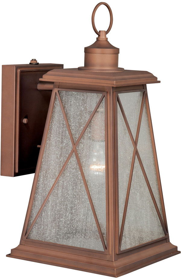 Antique Exterior Wall Sconces : Vaxcel T0062 Mackinac Traditional Antique Red Copper Finish 18