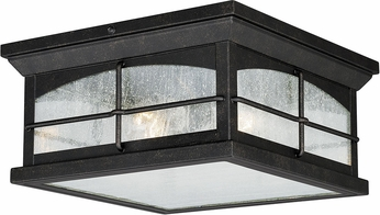Vaxcel T0075 Bembridge Gold Stone Exterior Flush Mount Lighting ...