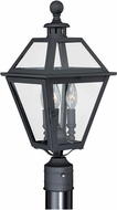 Vaxcel T0082 Nottingham Textured Black Outdoor Post Light