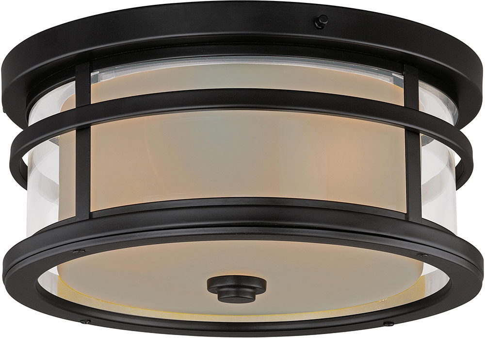 Vaxcel T0090 Cadiz Oil Rubbed Bronze Exterior Flush Mount Ceiling Light Fixture Loading Zoom