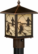 Vaxcel T0113 Mayfly Burnished Bronze Outdoor Post Lamp