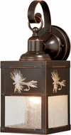 Vaxcel T0116 Mayfly Burnished Bronze Exterior Lighting Sconce