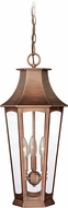 Vaxcel T0122 Preston Traditional Brushed Copper Exterior Hanging Pendant Light