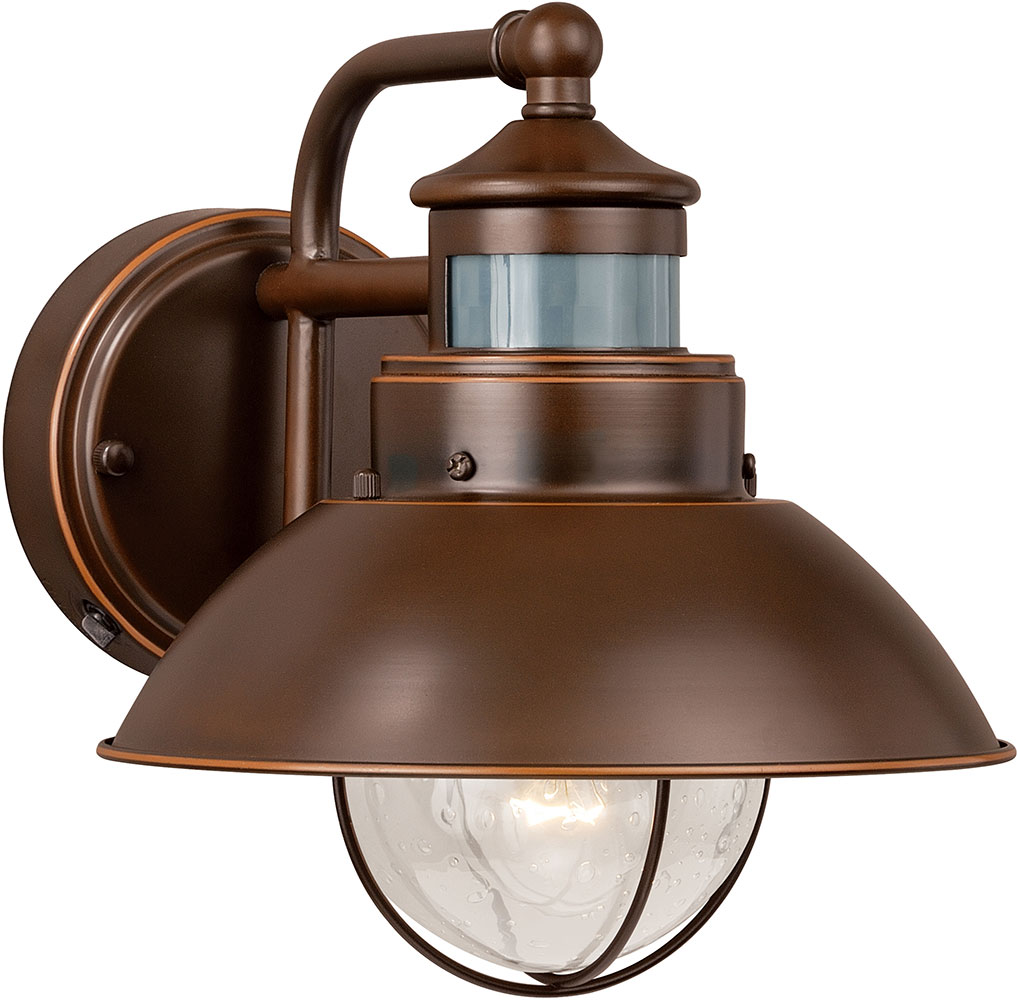 Vintage Outdoor Wall Lamps : Vaxcel T0125 Harwich Retro Burnished Bronze Outdoor Wall Smart Lighting Lighting Sconce - VXL-T0125