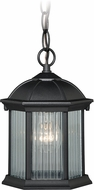Vaxcel T0131 Kingston Textured Black Outdoor Pendant Hanging Light